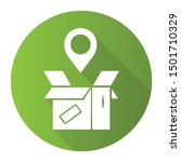 parcel tracking green flat... | Shutterstock .eps vector #1501710329