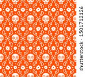 day of the dead seamless... | Shutterstock .eps vector #1501712126