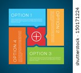 flat options vector background 2