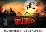 halloween background glow.... | Shutterstock .eps vector #1501715660