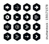 16 arrow sign icon set 01.... | Shutterstock .eps vector #150171578