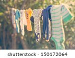 Baby Laundry Hanging On A...
