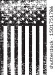 american flag vector in black... | Shutterstock .eps vector #1501751786