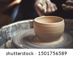 Creating Vase Of White Clay...