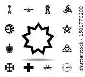 religion symbol  baha icon.... | Shutterstock .eps vector #1501773200