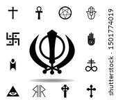 religion symbol  sikhism icon....