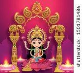 happy diwali  deepavali ... | Shutterstock .eps vector #1501781486