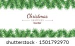 christmas tree seamless border... | Shutterstock .eps vector #1501792970