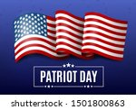 usa patriot day illustration  9.... | Shutterstock .eps vector #1501800863