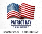 usa patriot day illustration  9.... | Shutterstock .eps vector #1501800869