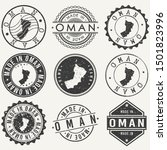 oman travel stamp made in... | Shutterstock .eps vector #1501823996