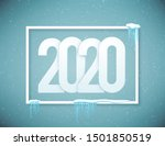 2020 happy new year poster...   Shutterstock .eps vector #1501850519