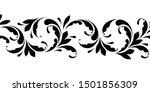 outline floral seamless pattern.... | Shutterstock .eps vector #1501856309