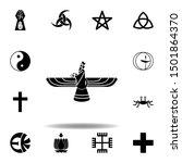 religion symbol  faravahar icon.... | Shutterstock . vector #1501864370