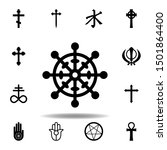 religion symbol  buddhism icon. ...