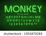 neon light 3d alphabet  extra... | Shutterstock .eps vector #1501870283