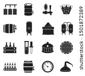 brewing and distilling icons.... | Shutterstock .eps vector #1501872389