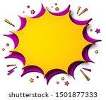 comics background. cartoon... | Shutterstock .eps vector #1501877333