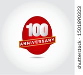 100 years anniversary vector...   Shutterstock .eps vector #1501890323