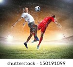 image of two football players...   Shutterstock . vector #150191099