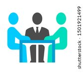 business meeting and... | Shutterstock .eps vector #1501921499