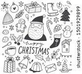set of christmas design element ...