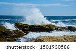 Crashing Waves On Rocky...