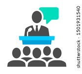 public speaking behind the... | Shutterstock .eps vector #1501931540