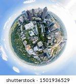 tiny planet effect in midtown... | Shutterstock . vector #1501936529