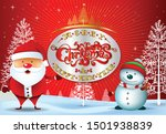 merry christmas everyone... | Shutterstock .eps vector #1501938839