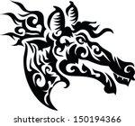 tattoo wild horse. | Shutterstock .eps vector #150194366