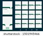 wall calendar 2020 template... | Shutterstock .eps vector #1501945466