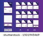 2020 wall calendar template... | Shutterstock .eps vector #1501945469