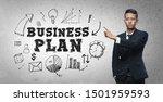 asian businessman pointing ... | Shutterstock . vector #1501959593
