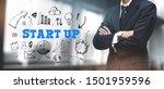 asian businessman on blurred... | Shutterstock . vector #1501959596