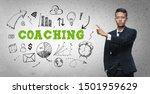 asian businessman pointing ... | Shutterstock . vector #1501959629
