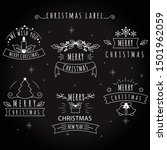 merry christmas black board... | Shutterstock .eps vector #1501962059
