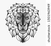 Lion Mandala Or Zentangle Style....