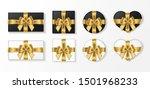 set of gift box black and white ...   Shutterstock .eps vector #1501968233