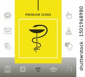 pharmacy symbol medical snake... | Shutterstock .eps vector #1501968980