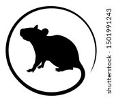 The Round Symbol Of Black Rat.