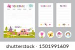 vector weekly planner  to do... | Shutterstock .eps vector #1501991609