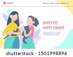 animal shelter landing page... | Shutterstock .eps vector #1501998896