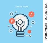 share or discuss new idea...   Shutterstock .eps vector #1502020166