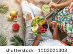 couple in summer clothes... | Shutterstock . vector #1502021303
