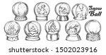 christmas snow balls souvenir... | Shutterstock .eps vector #1502023916