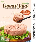 canned tuna poster ads with... | Shutterstock .eps vector #1502028263