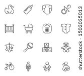 Baby Line Icons Set. Linear...