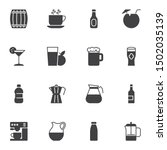 cocktail drinks vector icons... | Shutterstock .eps vector #1502035139