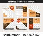 coffee shop banner for social...   Shutterstock .eps vector #1502035469